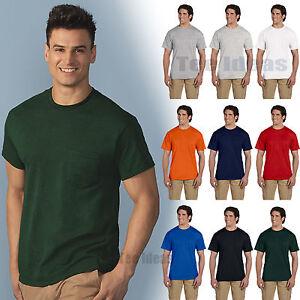 9e106a6221f2 Gildan Mens DryBlend 50/50 T-Shirt with a Pocket Tee S-3XL Tee 8300 ...