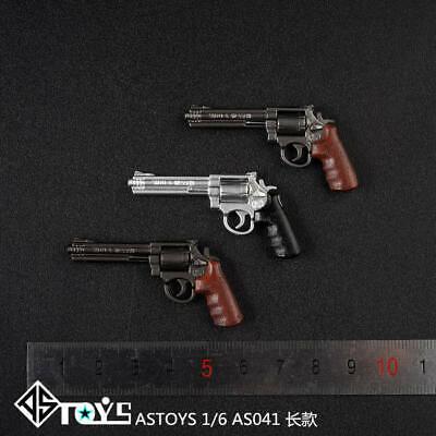 ASTOYS 1//6 Scale Agent Revolver Weapon AS041E Model Pistol Gun Toy Fit 12/'/' Body