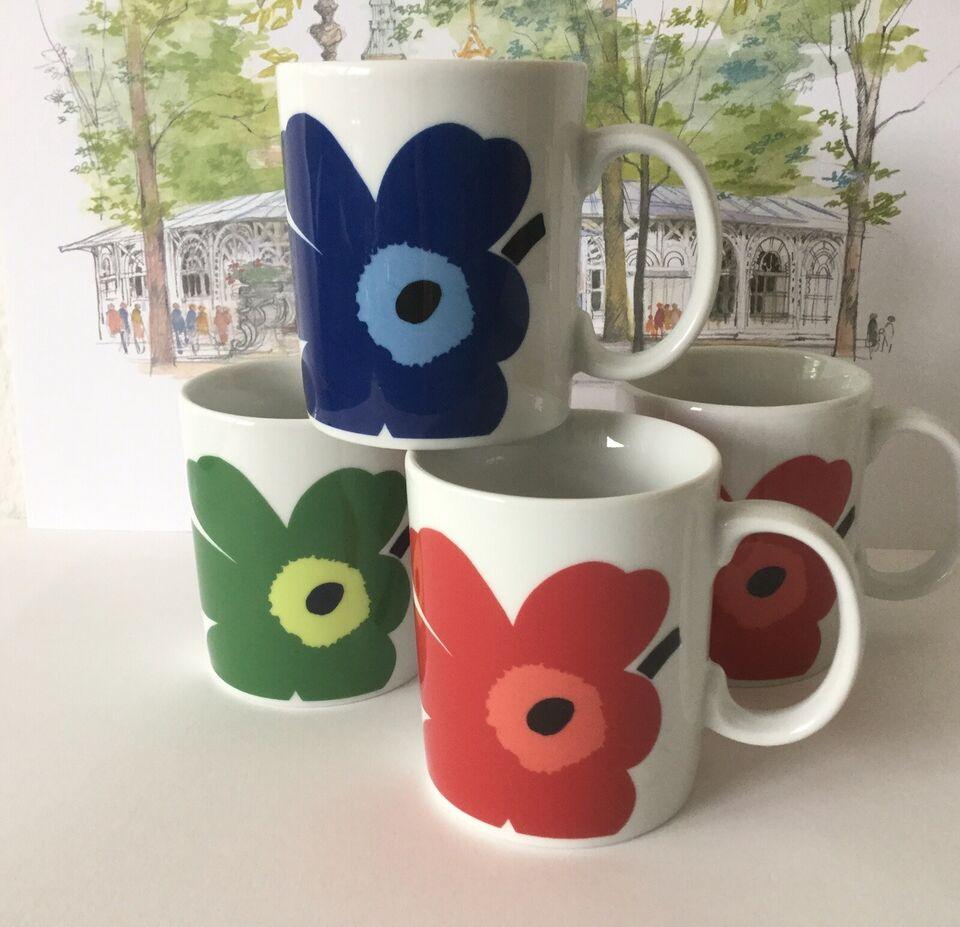 Porcelæn, Krus kopper, Marimekko