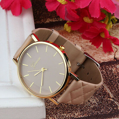Unisex Quartz Analog Wrist Watch Casual Leather Band Watches Women Dress Watches