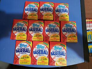 10 Unopened 1988 Topps Baseball Card Wax Packs