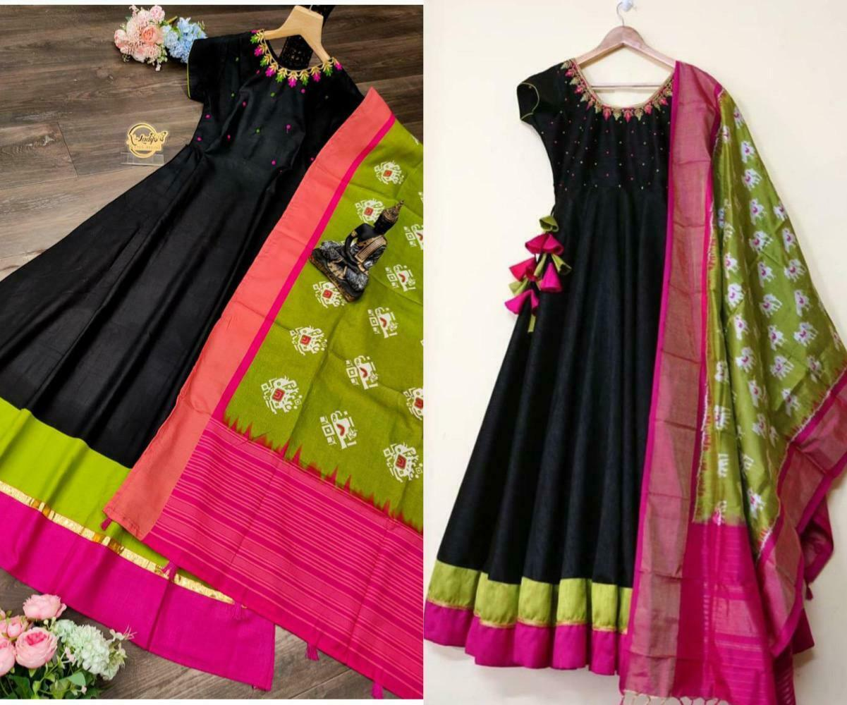 New Stylish Designer Indian Bollywood Long Magic slab Gown Party Occasion Wear