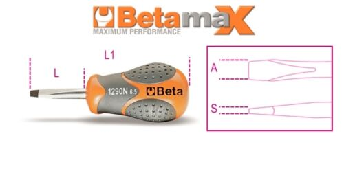 Beta Tools 1290N-Screwdriver For Slotted Screws Extra Short Series 0,8X4X30 86mm