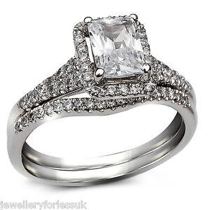GIA-Certified-Radiant-Cut-Diamond-Halo-Style-Engagement-Ring-amp-Wedding-Band-18K