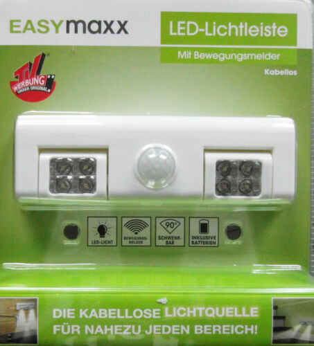 Easymaxx LED Lichtleiste Mit Bewegungsmelder kabellos Neu