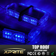 Xprite NEW 36LED 12V Magnetic Rooftop High Intensity Emergency Strobe Light Blue