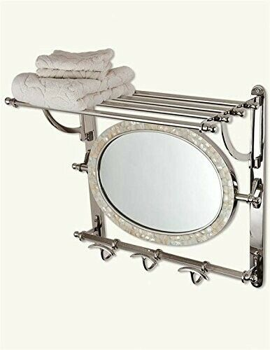 Victorian Trading Co Grand Central Mother of Pearl Mirror /& Towel Rack