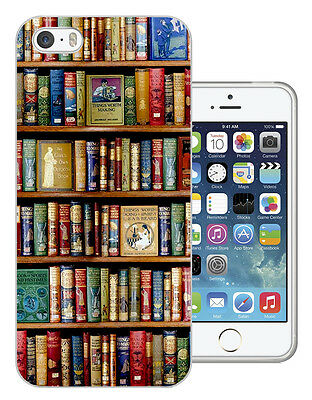 004 Bookshelf Library Case Gel Cover For iphone 5 SE 5 5S 5C 6 6S/6S Plus
