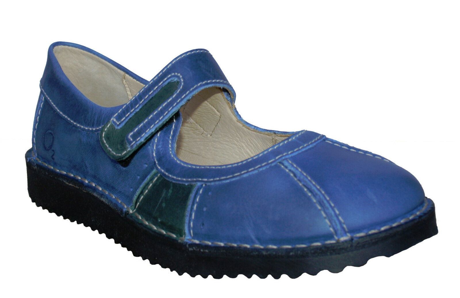 Oxygen Stitch Down Mary Jane Schuhe Rostock Blau Größes 37 to 41 (UK 4-7.5)