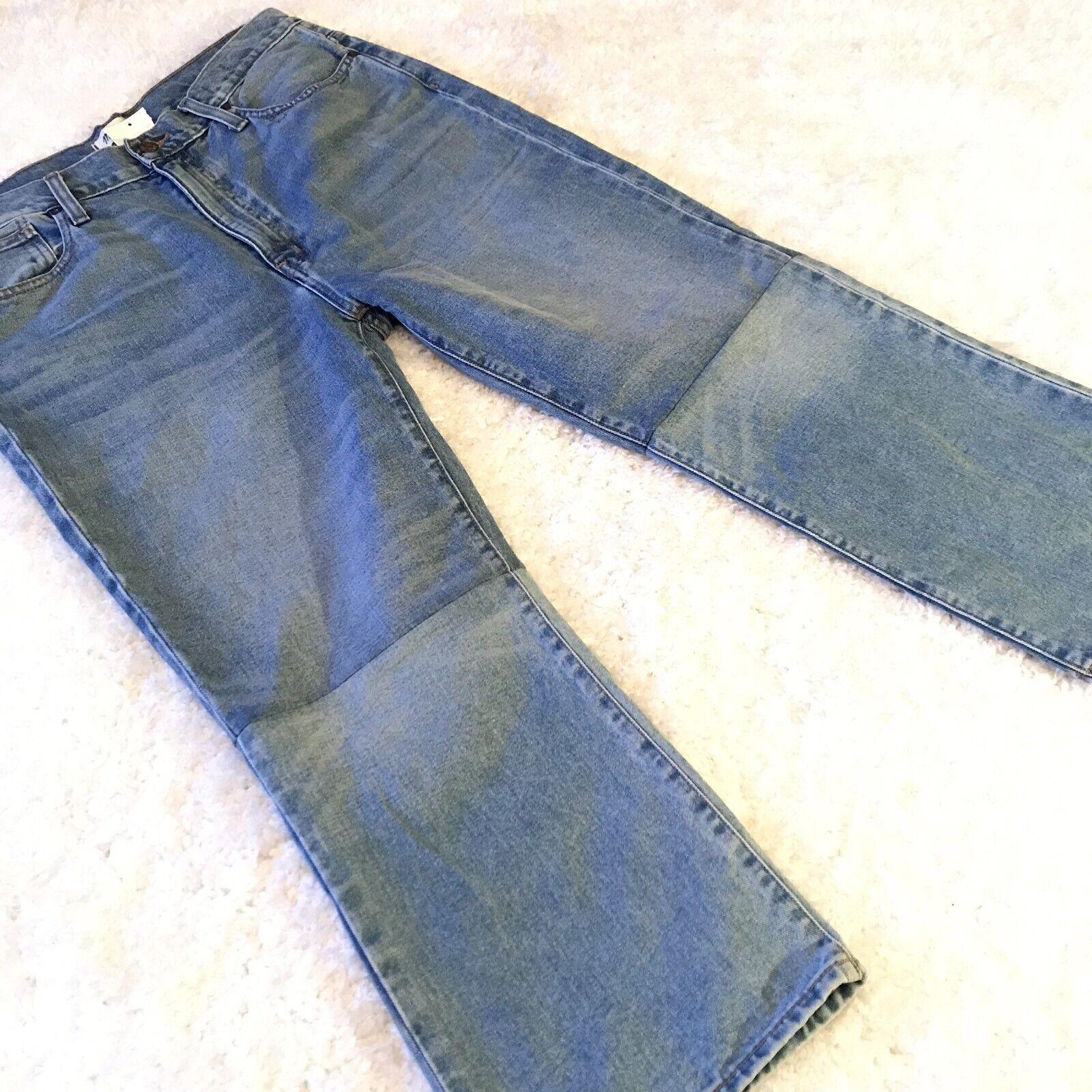 Madewell Jeans Sz 31 Retro Crop Bootcut Denim Two Tone Wide Leg Cotton Womens