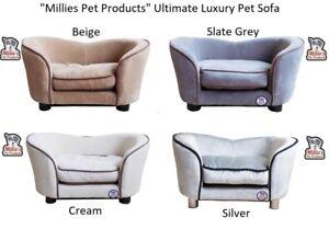Millies Pet Canapé-lit Chien Chat Kitty Puppy Couch Coussin Doux Chaise Luge Beige, crème, Ardoise Gris, argent