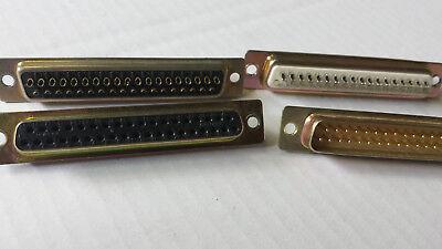 Laborioso 2 Paia Sub D Connettori 37 Pin Spina + Giunto Lötbar Installazione O Cavo-mostra Il Titolo Originale