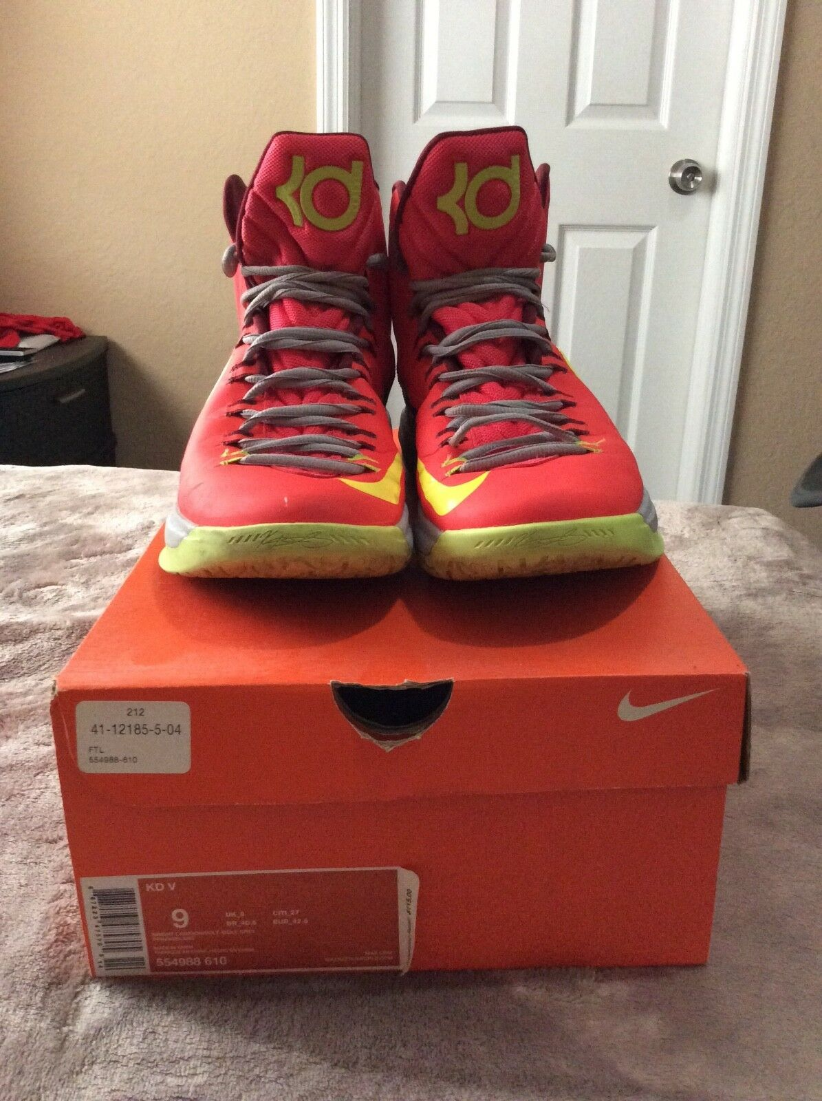 pre owned mens kd 5 size 9