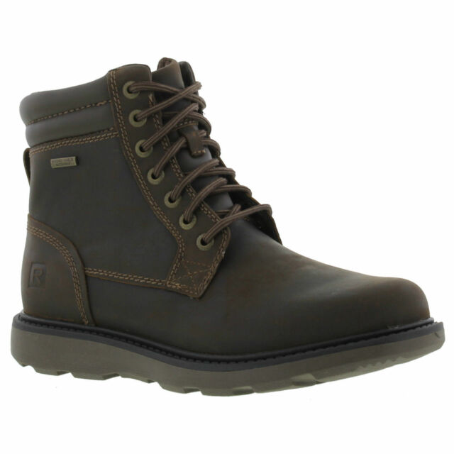 Rockport Boat Builder Plain Toe Mens Waterproof Leather Ankle Boots Size UK 8-10