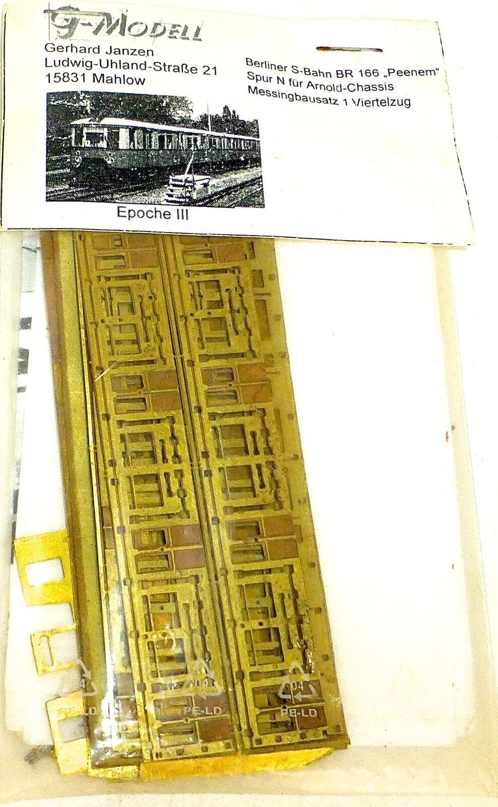 BR 166 peenem EP3 S FERROVIA ottone Kit di costruzione G modello MAHLOW 1 160 N