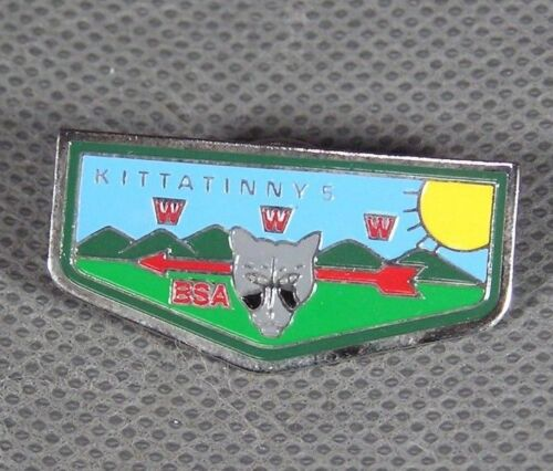 Boy Scouts Hawk Mountain Council O//A Kittatinny 5 Cloisonne Pin !