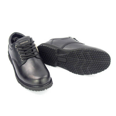 Converse Slip Resistant Black Leather