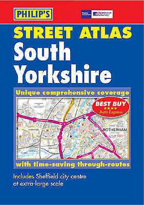 , Philip's Street Atlas South Yorkshire, Paperback, Very Good Book