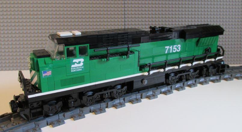 Lego Train Custom Burlington Northern Northern Northern ES44ac - PLEASE READ ITEM DESCRIPTION 208cab