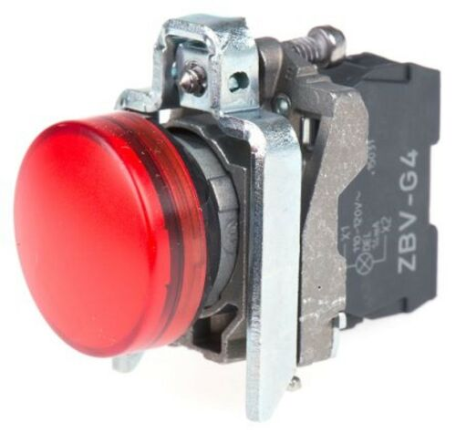 Schneider XB4 22mm LED Luz Piloto 120Vac Rojo XB4BVG4