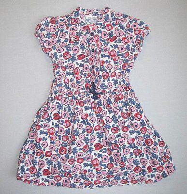 Mini Boden Girls 7 8 Yrs Pink Violet Floral Pretty Shirt Dress EUC