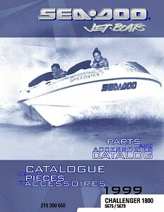 Details about Sea-Doo Parts Manual Book 1999 CHALLENGER 1800 Models 5675 /  5679