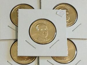 2 Coin Set 2014 P/&D Herbert Hoover Presidential Golden Dollar BU Gold $1 UNC