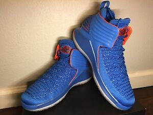 9f0b7763f9b Nike Air Jordan XXXII BG Basketball Youth Shoes Signal Blue AA1254 ...