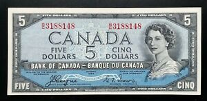1954-BANK-OF-CANADA-5-Dollars-Coyne-amp-Towers-Devil-039-s-Face-B-C-Prefix-BC-31a
