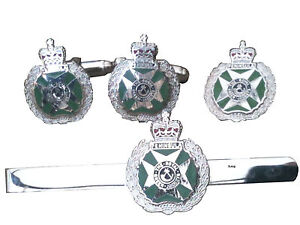 RGJ Royal Green Jackets Cufflinks, Tie Clip, Lapel Badge, Set or Individual