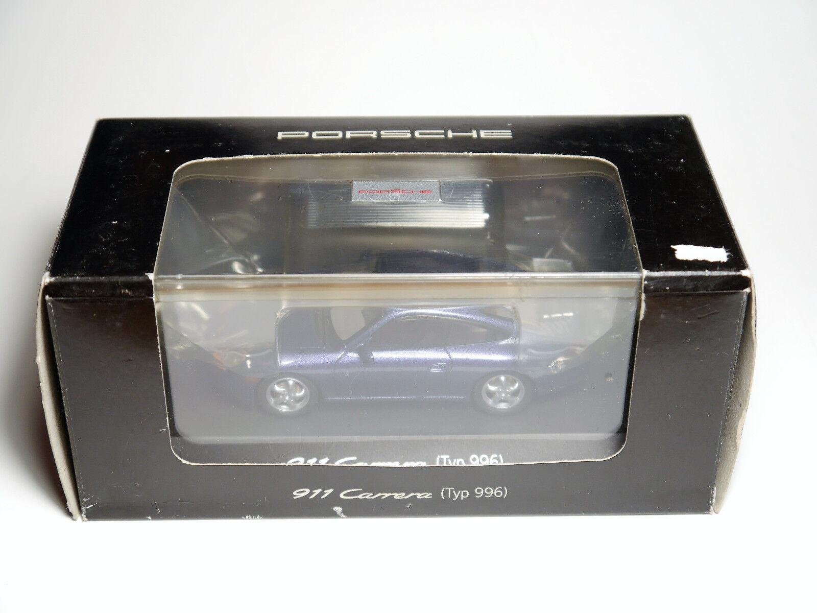 Porsche 911 996 Carrera Coupe bluee purple, Schuco WAP 020 049 97 1 43 Boxed