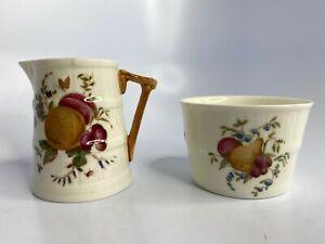 Vintage-Royal-Worcester-Bone-China-Made-In-England-Creamer-amp-Sugar-Bowl