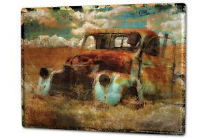 blechschild xxl nostalgie auto retro schrott feld rost ebay. Black Bedroom Furniture Sets. Home Design Ideas