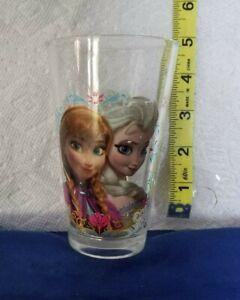 Frozen Elsa & Anna Glass Tumbler 8 oz Disney Collectible