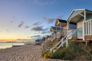 Traditional-Beach-Huts-North-Norfolk-Coast-at-Wells-Photo-Art-Print-Poster-18x12