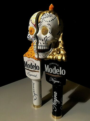 Negra Day Of The Dead Skull Beer Tap Handle Kegerator Lot New Modelo Especial