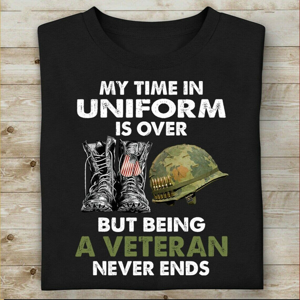 Veteran T-Shirt Memorial Day Soldier Army Military Us Flag Retro Shirt Masswerks Store
