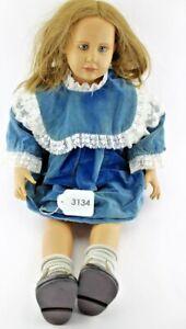 Vieille poupée en vinyle Hildegarde Günzel Chine fille 75 cm