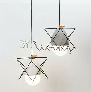 Contemporary modern diamond concrete geometric metal cage pendant image is loading contemporary modern diamond concrete geometric metal cage pendant mozeypictures Choice Image