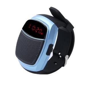 Montre Haut Parleurs Bluetooth 3W Appelle Carte Mémoire SD MP3 Radio FM Sport