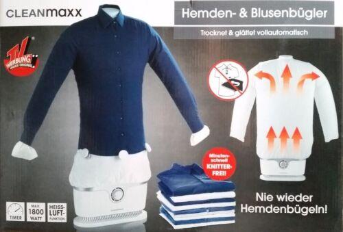 Cleanmaxx Hemden /& Blusenbügler Dampfbügelstationen Dampfbügler aus TV Werbung!