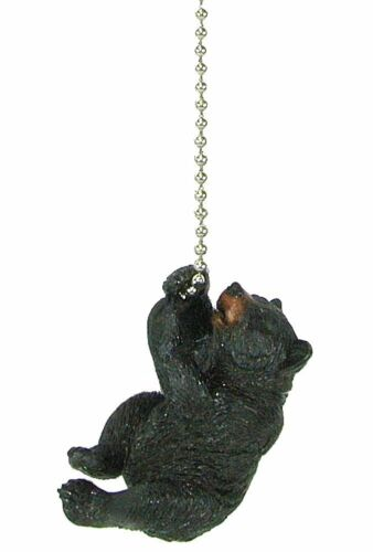 lodge decor Black bear climbing ceiling fan pull chain extender