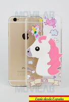 Funda carcasa gel / TPU Apple Iphone 6 /6S transparente unicornio silicona 3D