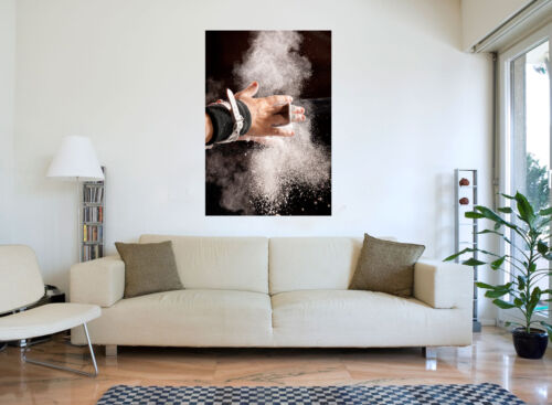 Sport Gymnast preps with Chalk Abstract Canvas Wall Art Picture Print