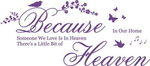Because someone we Love Quote 3D Butterflies Vinyl Wall Art Stickers Decal