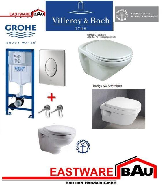 Grohe Rapid SL Vorwandelement  Villeroy & Boch Wand WC - Architectura - Omnia -