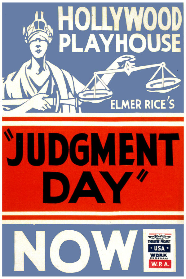 2622.Hollywood playhouse Judgement day theaterPOSTER.Bedroom Decorative Art