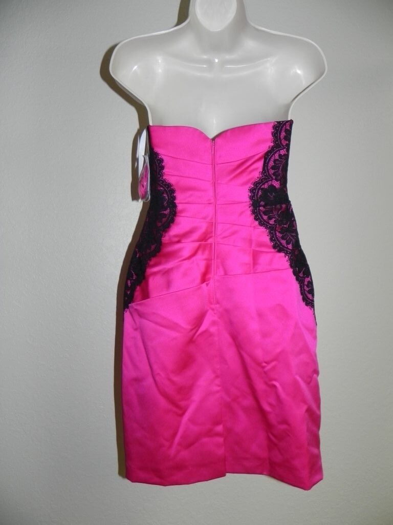 9705031aecd ... Davids Bridal Dress Size 4 Begonia Pink Strapless Bridesmaid F15629  F15629 F15629 NWT 149 2d6908 ...