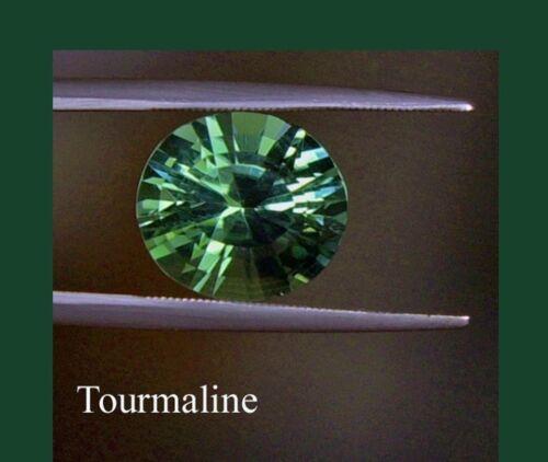 TWO PCS 6.5 mm GREEN TOURMALINE Russian Sim Diamond BRILLIANT CUT 1 ct