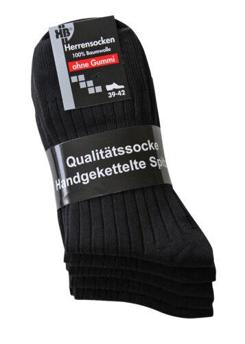 1-5-10 Herren Diabetiker Socken ohne Gummibund 100/% Baumwolle Gesundheitssocken